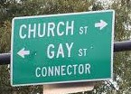 church gay street sign