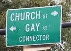 church gay street sign