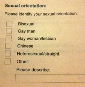 identify sexual orientation